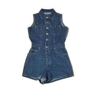 Vintage | Boutique Europa Denim Shorts Romper | 4